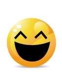 Yellow emoticon cartoon character Stock Images