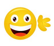 Yellow emoticon cartoon character Stock Image