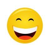 Yellow emoticon cartoon character Royalty Free Stock Photo
