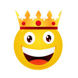 Yellow emoticon cartoon character Royalty Free Stock Photos