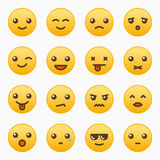 Yellow emoticons set Stock Photo