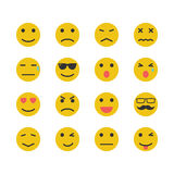 Yellow emotion icons Royalty Free Stock Photos