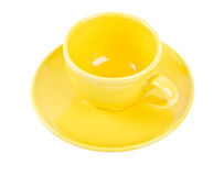 Yellow empty cup Royalty Free Stock Photography