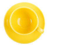 Yellow empty cup Stock Image