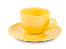 Yellow empty cup Royalty Free Stock Photo