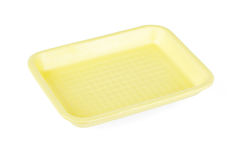 Yellow empty food tray Stock Photography