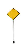 A yellow empty guidepost Royalty Free Stock Image