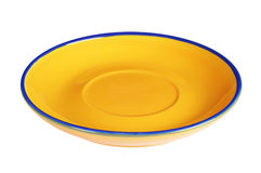 Yellow empty plate Stock Image