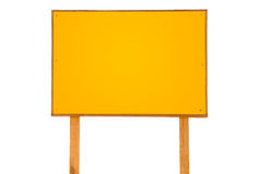 Yellow empty sign Stock Photography