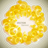 Yellow energy. Abstract bright banner Royalty Free Stock Photos