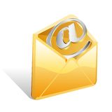 Yellow envelope Royalty Free Stock Images