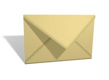 Yellow envelope Royalty Free Stock Photo