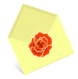 Yellow envelope. Artistic vector illustration royalty free illustration