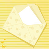 Yellow envelope Stock Photography