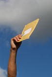 Yellow envelope. Royalty Free Stock Photography
