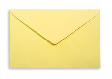 Yellow envelope . Royalty Free Stock Photo