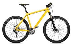 Yellow 29er mountain bike royalty free stock photo
