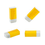Yellow eraser Stock Photography