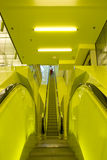 Yellow Escalators Royalty Free Stock Images