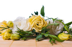 Yellow eustoma flowers Royalty Free Stock Image