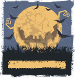 Yellow evil moon Stock Photography