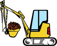 Yellow excavator Royalty Free Stock Images