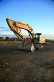 Yellow Excavator stock photo