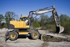Yellow excavator Royalty Free Stock Photo