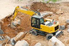 Yellow Excavator Royalty Free Stock Photos