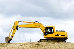 Yellow excavator Royalty Free Stock Photography