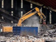 Yellow excavator Stock Image