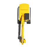 Yellow Excavator Isolated Royalty Free Stock Photo