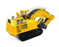 Yellow Excavator Isolated Stock Image