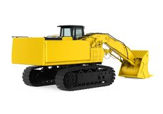 Yellow Excavator Isolated. On white background. 3D render Royalty Free Stock Photography