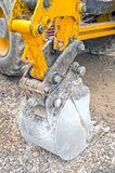 Yellow excavator machines. Part of modern yellow excavator machines Stock Image