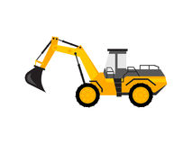 Yellow excavator toy Stock Photo