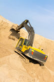 Yellow Excavator at Work Stock Image