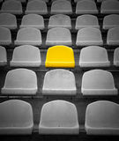Yellow exclusive seat. In stadium stock photo