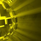 Yellow Explosion Ball Royalty Free Stock Photography