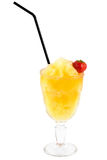 Yellow extra cooling cocktail Royalty Free Stock Photography
