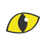Yellow eye cat staring icon. Illustration eps 10 Stock Images