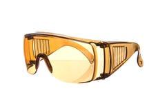 Yellow eye glasses isolated on white Stock Photography
