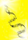 yellow för bakgrundsanmärkningar Royaltyfria Bilder