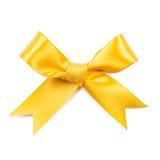 yellow för bow för bakgrund 3d vit Fotografering för Bildbyråer