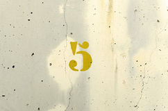 yellow för fem nummer Royaltyfri Bild
