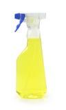 yellow för flaskrengöringsmedelspray Arkivbilder