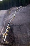 yellow för gaspipeline royaltyfri bild