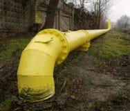 yellow för gasrør Arkivbild