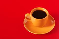 yellow för kaffekopp Royaltyfri Foto