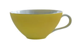 yellow för kaffekopp Fotografering för Bildbyråer